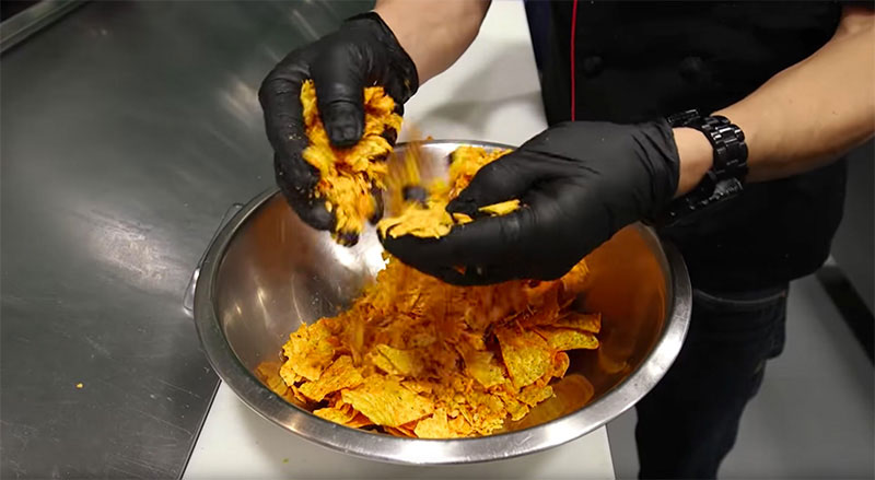Pizza de doritos nachos