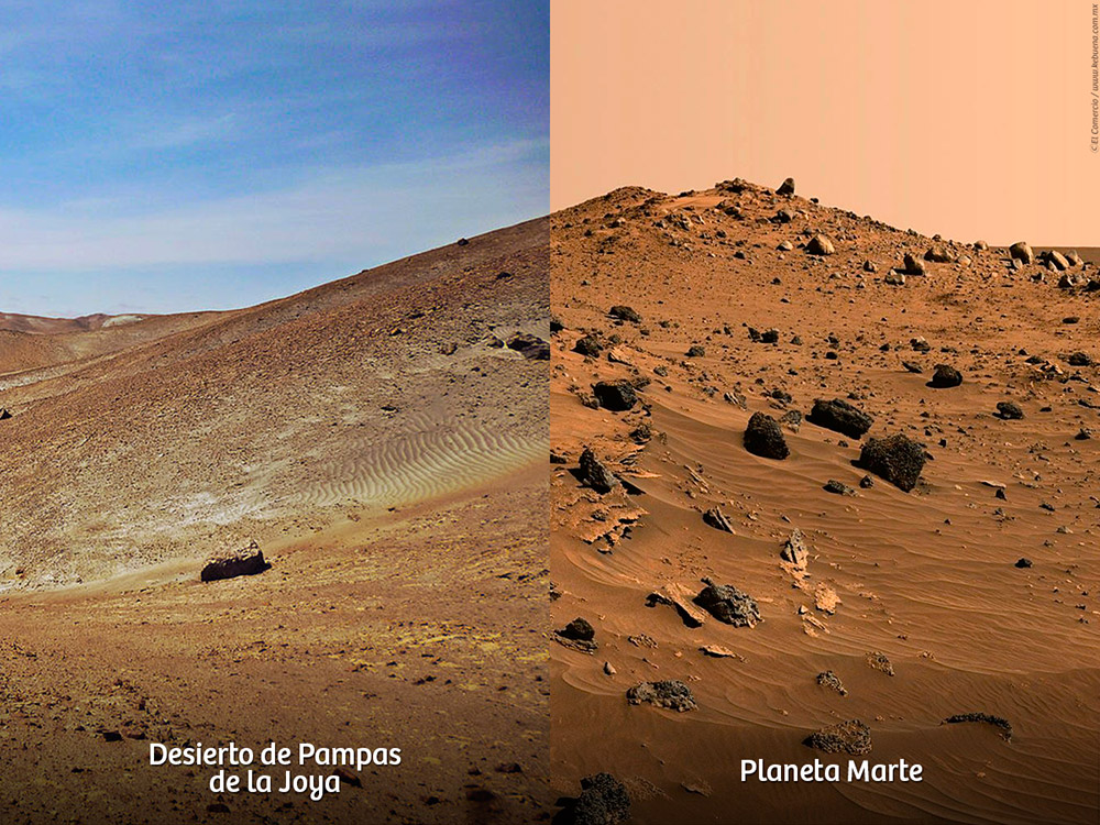 Differenze tra il deserto peruviano e marte
