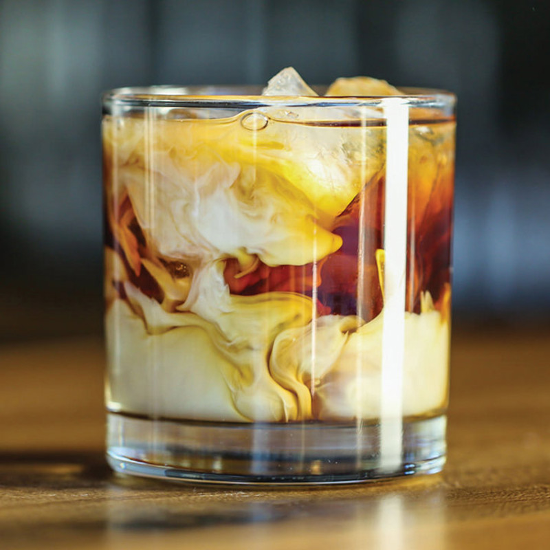 White russian cocktail invernali