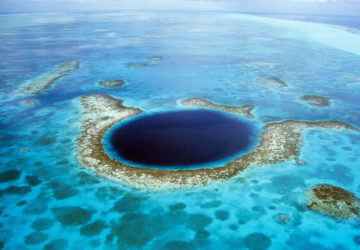 vista aerea great blue hole