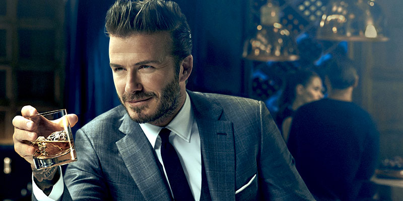 Celebrità e alcol, dagli eccessi al business David Beckham Whisky