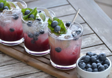 Blueberry mojito cocktail