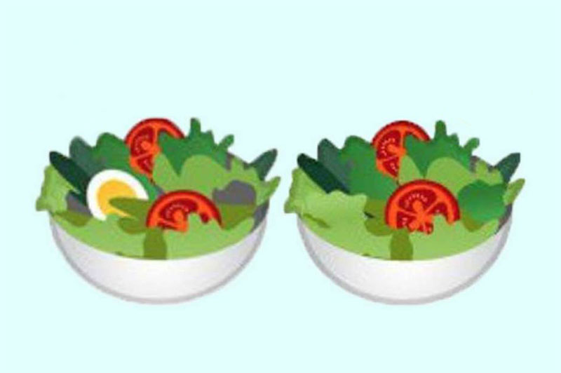 emoji insalata google vegan friendly