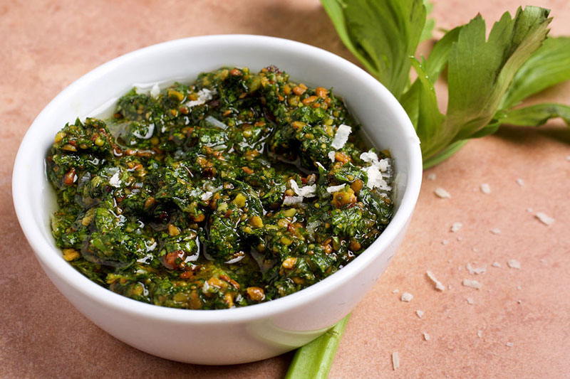 come fare pesto di sedano