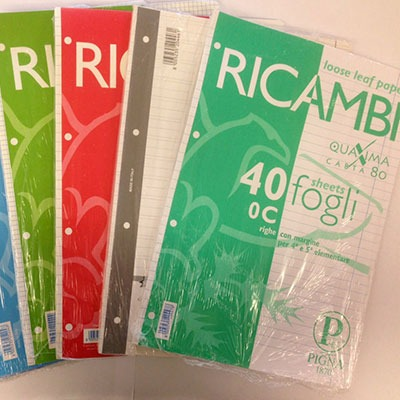 back to school ecologico ricambi Pigna