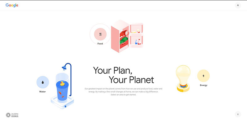 Your Plan Your Planet google ambiente