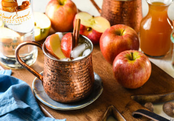 caramel apple mule cocktail