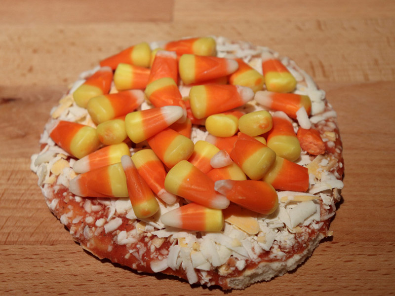 candy corn pizza halloween