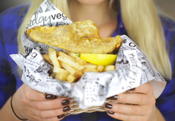 vegan fish and chips take away