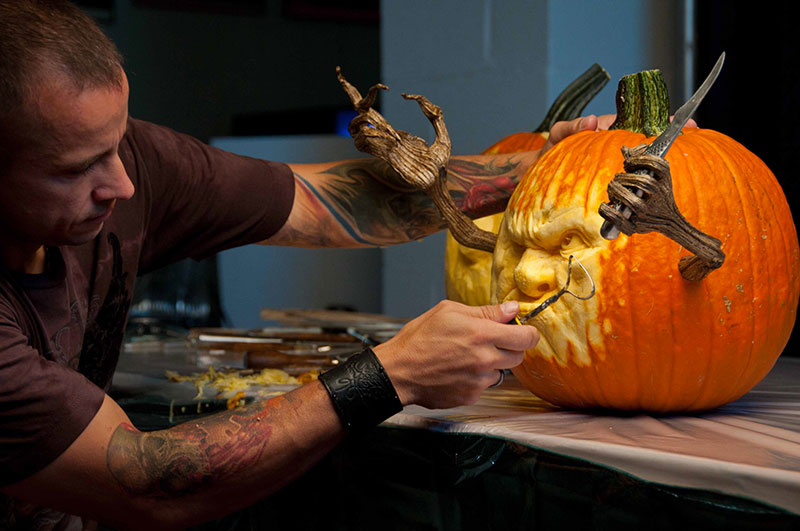 zucche halloween d'artista food network