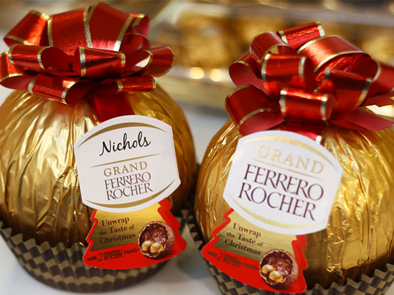 Ferrero Rocher gigante personalizzabile uk