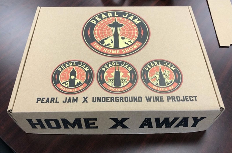 vino rosso Home X away Pearl Jam