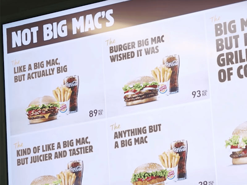 Burger King McDonald's Big Mac