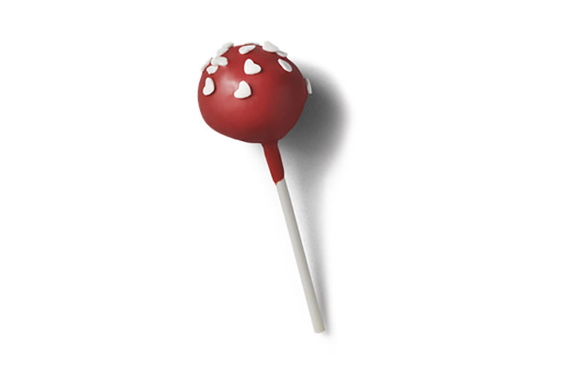 Valentine's day cake pop