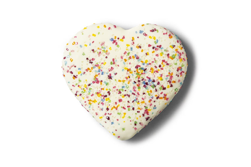 White Valentine's day sugar cookie