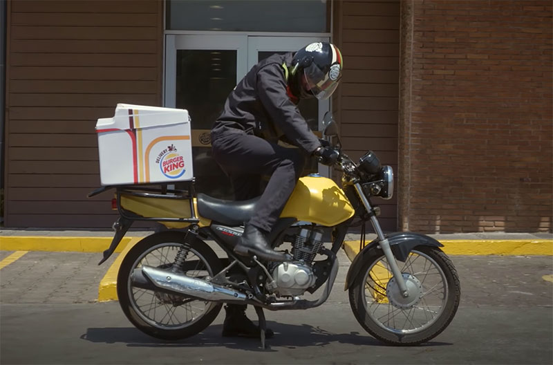 Burger King delivery traffico
