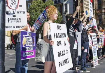 extinction rebellion ambiente fashion week londra
